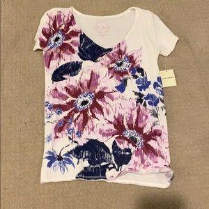floral printed v-neck top